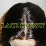 close up of a silk top full lace wig