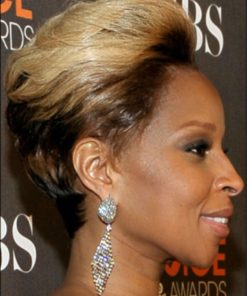 Mary J. Blige - 8 Inches - Indian Remy Hair - Bob Styled TToned - Celebrity Replica Lace Front Wig