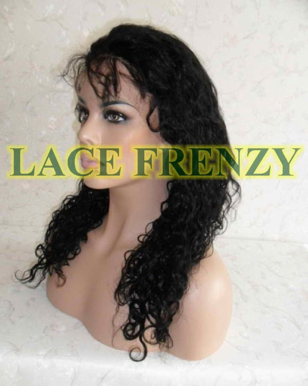 Charlene- 18 Inches- Curly - Indian Remy Hair- Lace Front Wig