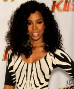 Kelly Rowland - 18 Inches - Afro Curl - Indian Remy Hair - Celebrity Lace Front Wig Replica