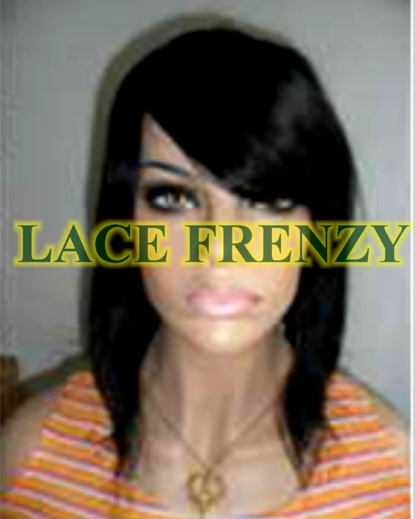 Shauna - 12 Inches - Indian Remy Hair- Light Yaki w/ Side Bang Lace Front Wig
