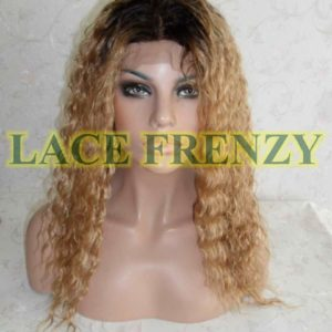 Allison 16 Inches Two Toned Indian Remy Hair Deep Wave Lace Front Wig
