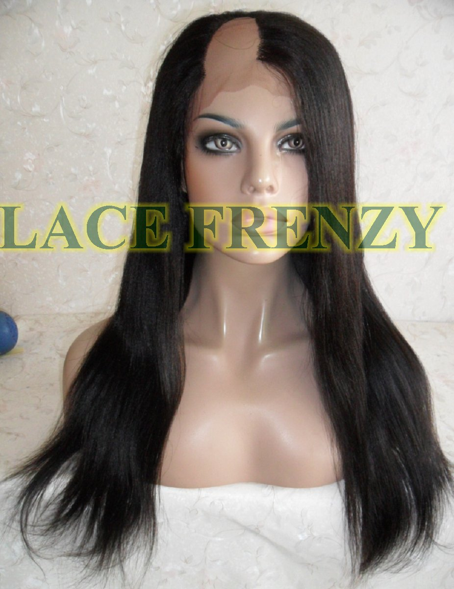 Angel - 18 inches - Straight - Indian Remy Hair - Upart Lace Wig