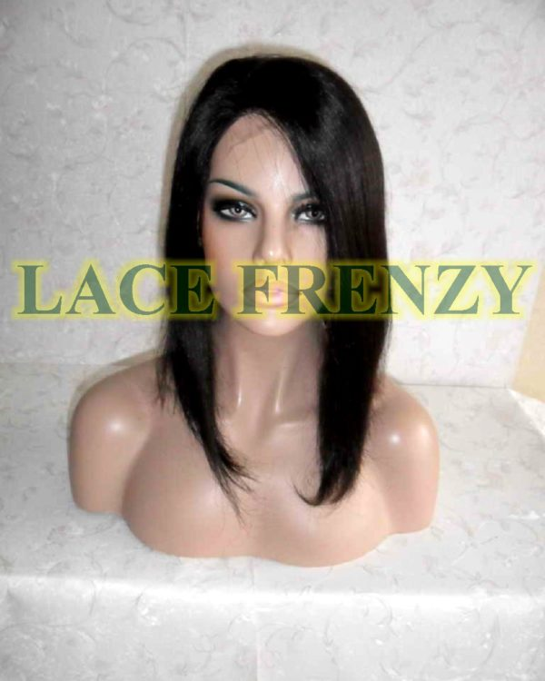 Carmen - 12 Inches- Indian Remy Hair- Bob Cut Lace Front Wig