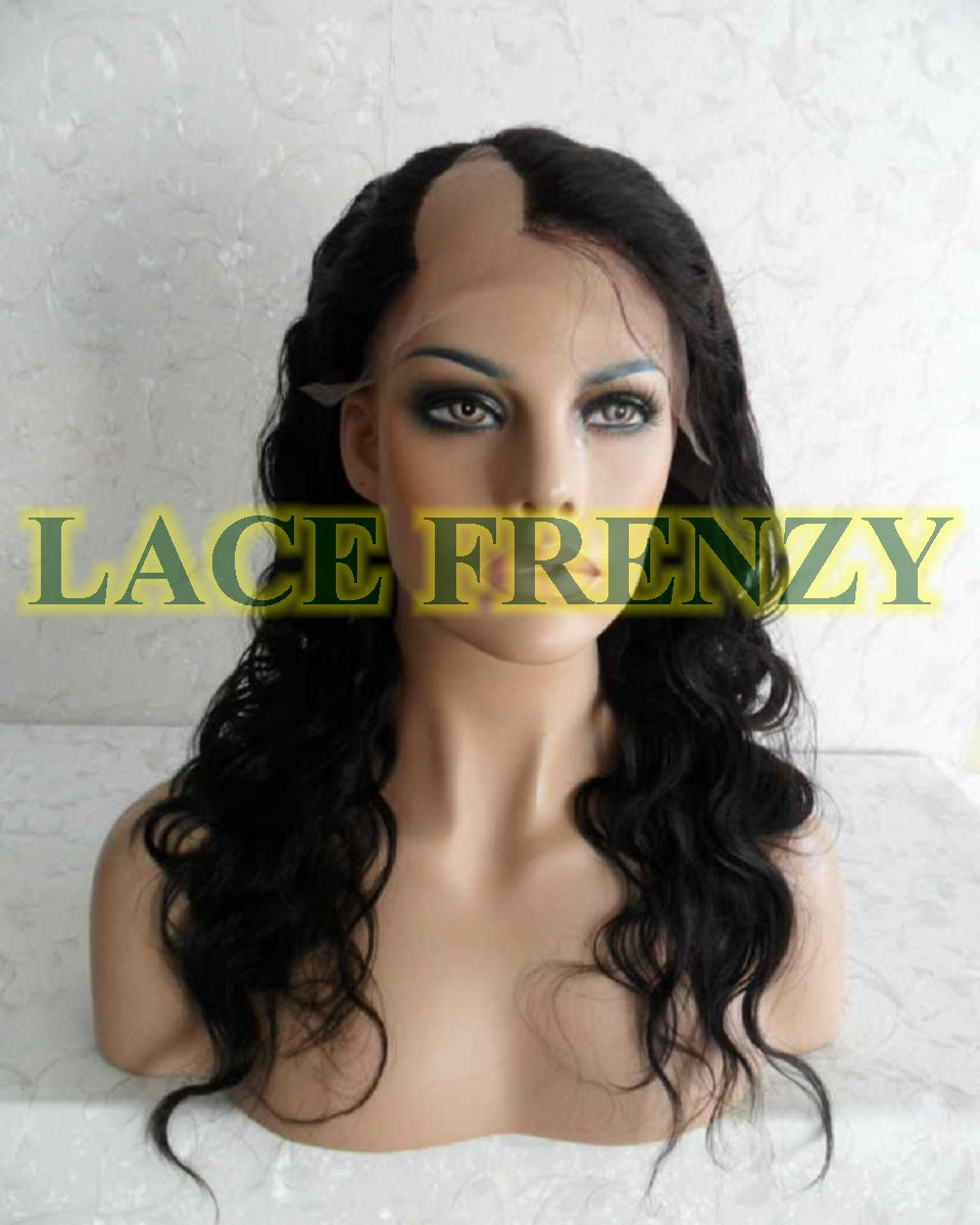 Carrie 18 Inches Indian Remy Hair Body Wave U Part Lace Wig