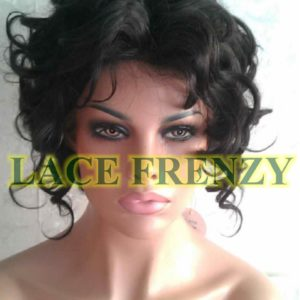 Fancy - 10 Inches - Body Curl - Indian Remy Hair- Lace Front Wig