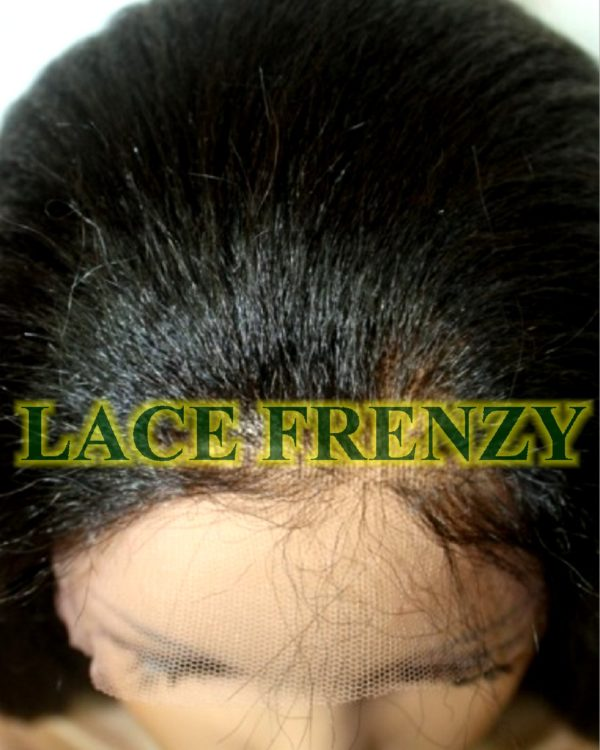 Kinky straight double knot full lace wig