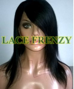 Syleena - 14 Inches - Indian Remy Hair - Soft Yaki w/ Side Bang Lace Front Wig
