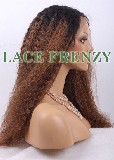 Sandra- Kinky Straight - Ombre Full Lace Wig