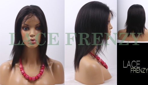 Sofia - 12 Inches - Indian Remy Hair - Yaki Straight - Full Lace Wig