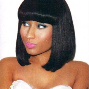 Nicki Mina's Brazilian hair bob replica lace front wig