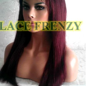 Keri - 18 Inches - Indian Remy Hair - Yaki Straight - Lace Front Wig