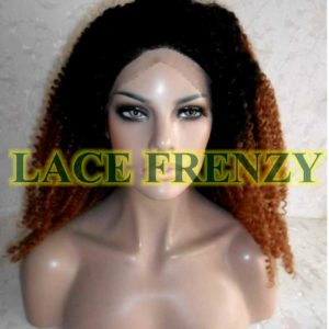 T1b/30 Afro Kinky two toned lace front wig