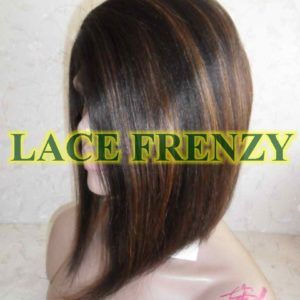 Connie - 12 Inches - Indian Remy Hair -Soft Yaki - Bob Styled Lace Front Wig