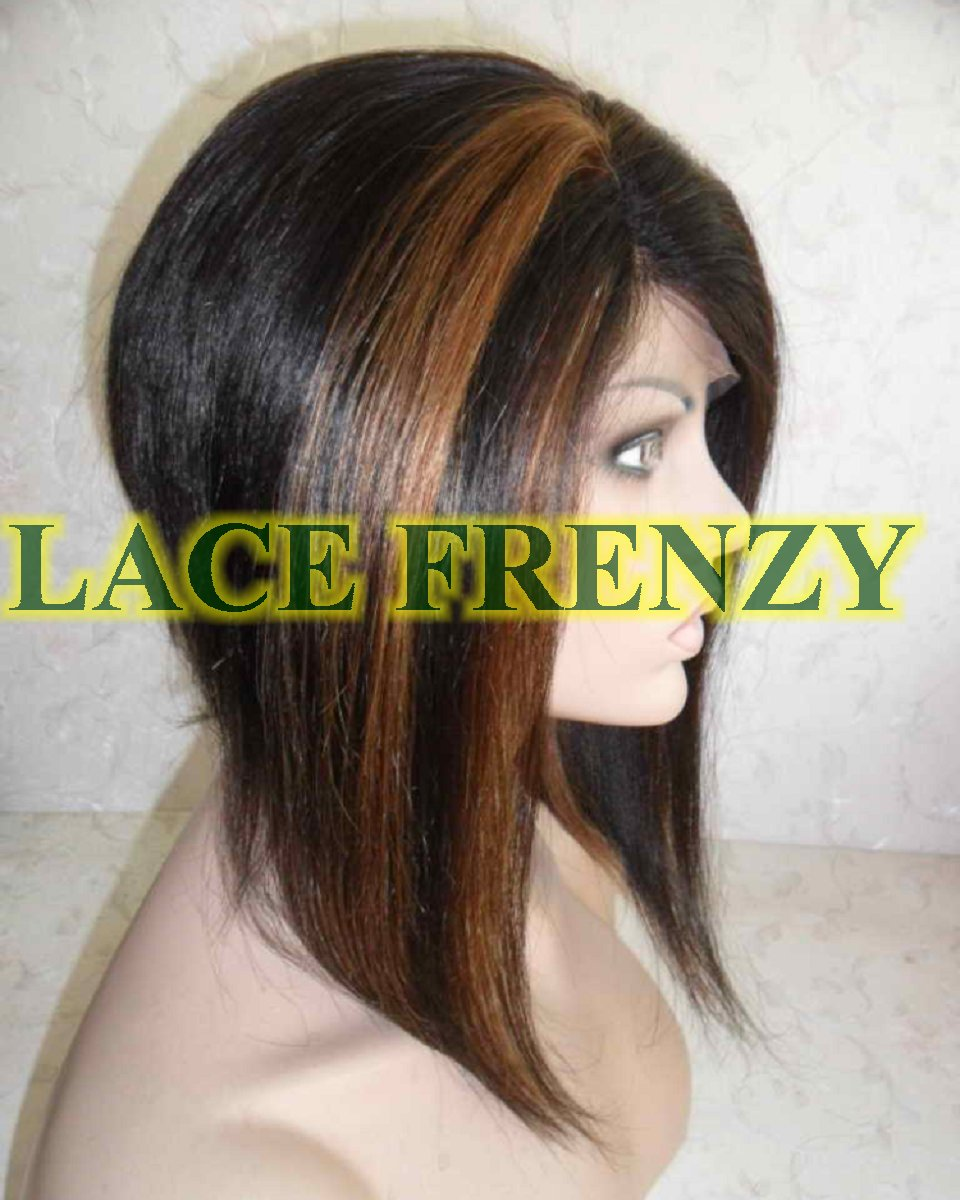 Connie - 12 Inches - Indian Remy Hair - Soft Yaki - Bob Styled Lace Front Wig