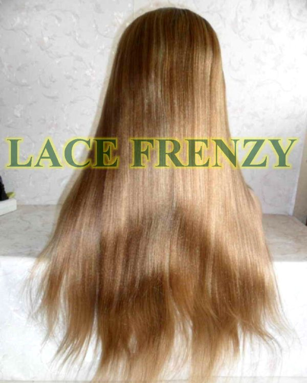 22 inches two toned light yaki Indian remy human hair with blonde highlights