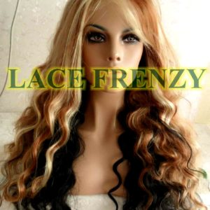 Marigold - 22 inches - Two Toned - Wavy - Lace Front Wig