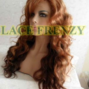 May - 20 Inches - Body Curl - Two Toned w/ Side Bang - Lace Front Wig