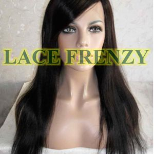 Narelle- 18 Inches - Indian Remy Hair- Light Yaki w/Side Bang - Lace Front Wig