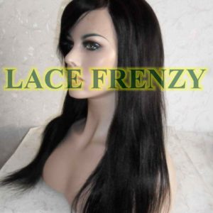 Narelle - 18 Inches - Indian Remy Hair - Light Yaki w/ Side Bang Lace Front Wig