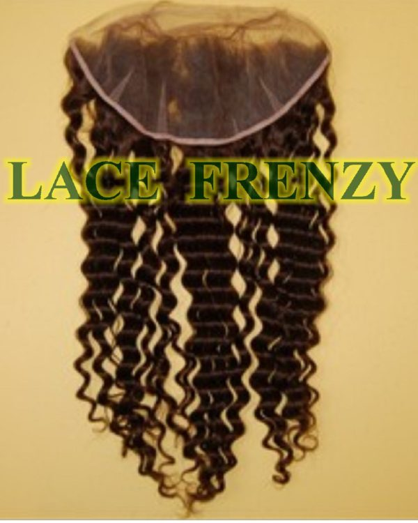 13x4 Inches - Deep Wave - Lace Frontal & 200g Machine Weft Bundle Kit