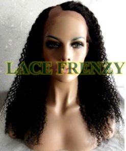 Stephanie - 18 Inches- Indian Remy Hair-Kinky Curly - U-Part Lace Wig