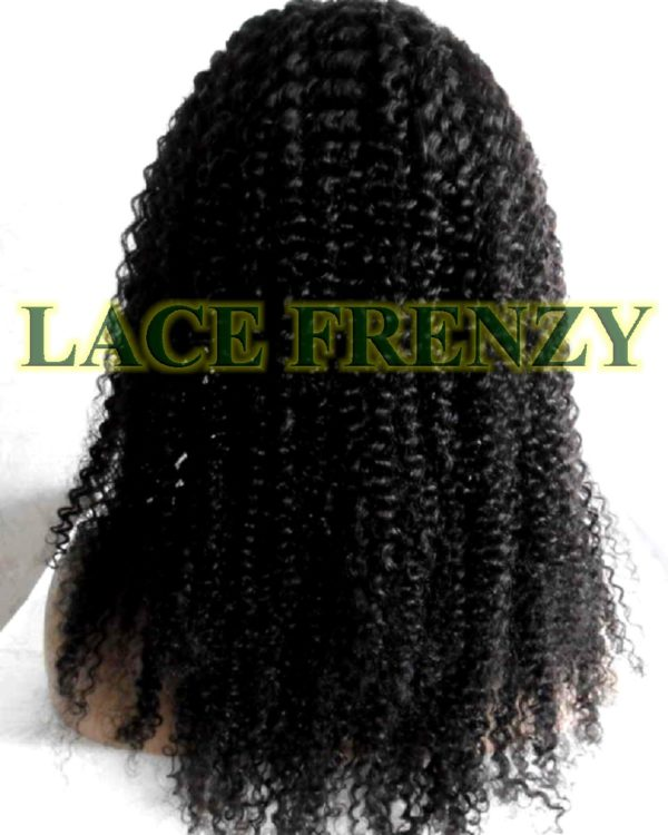 Stephanie - 18 Inches - Indian Remy Hair - Kinky Curly - Upart Lace Wig