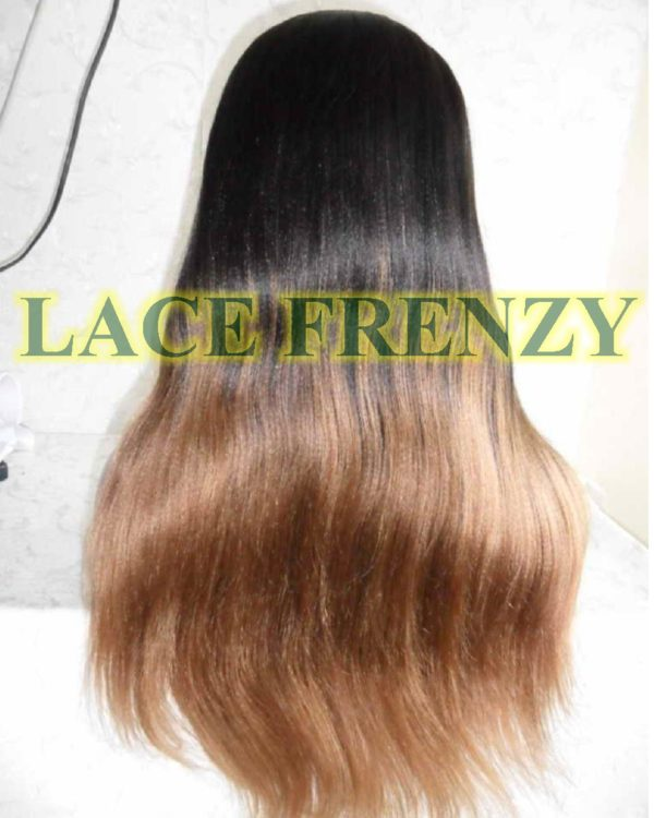 Tahari -TToned- Indian Remy hair - Soft Yaki w/ Side Bang - Lace Front Wig