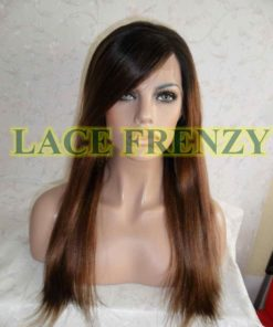 Adrianne- 18 Inches - Indian Remy Hair- Soft Yaki w/ Side Bang - Lace Front Wig