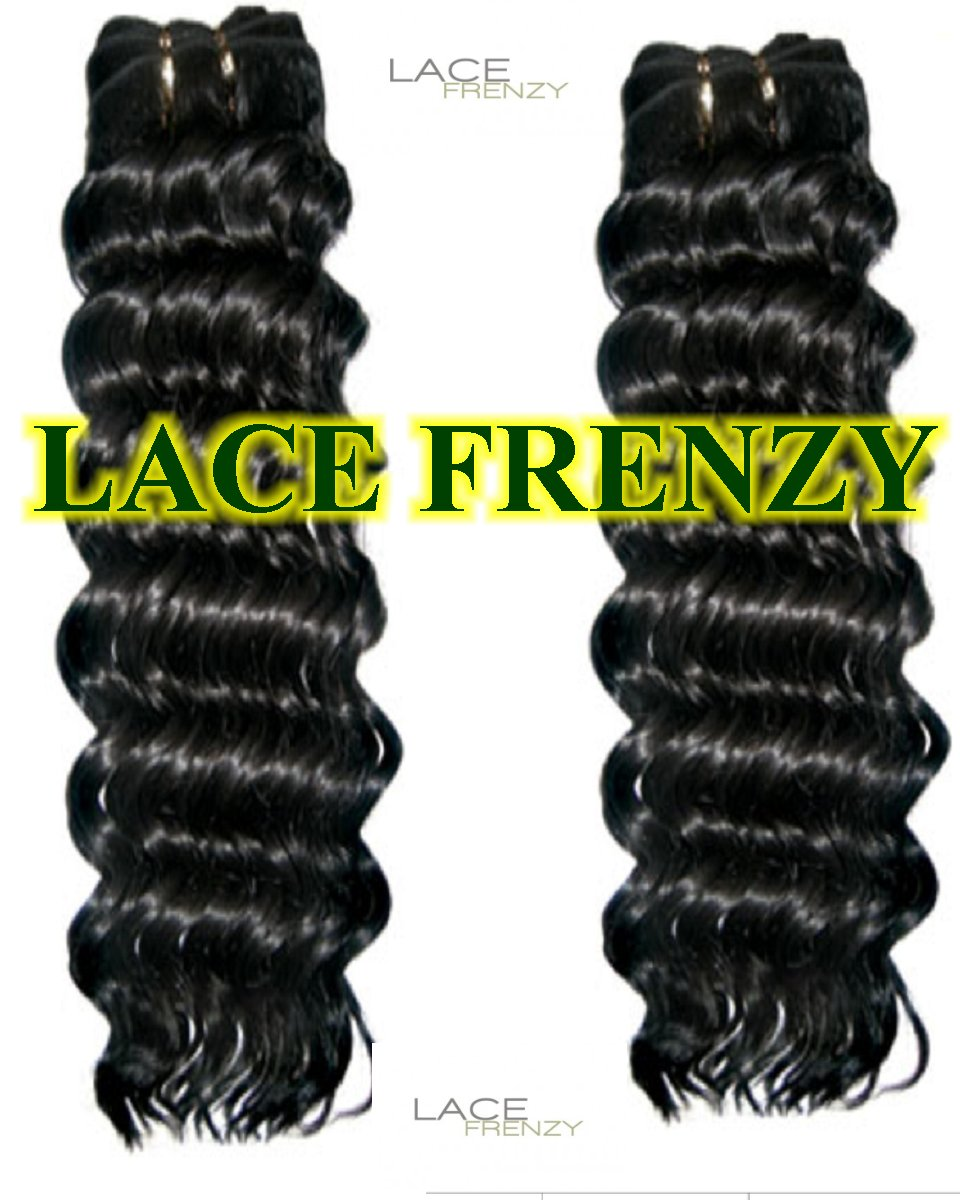Indian Rey deep wave 200g machine weft bundle Kit