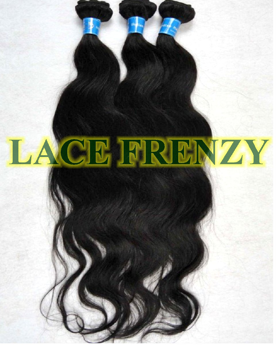 Indian Virgin Hair - Natural Wavy - 300g Layered Machine Weft Bundle Kit