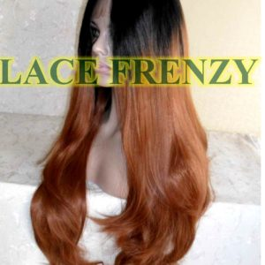 Loose body curls Ombre lace front wig
