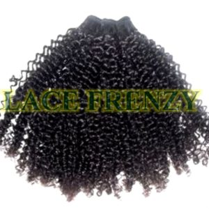 Mongolian virgin tight kinky curly bundle machine weft hair extensions