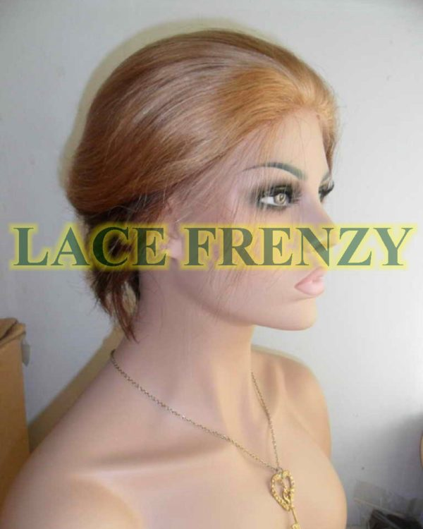#27/4 Mary j bilge replica boy cut Bob Indian remy two toned lace front wig