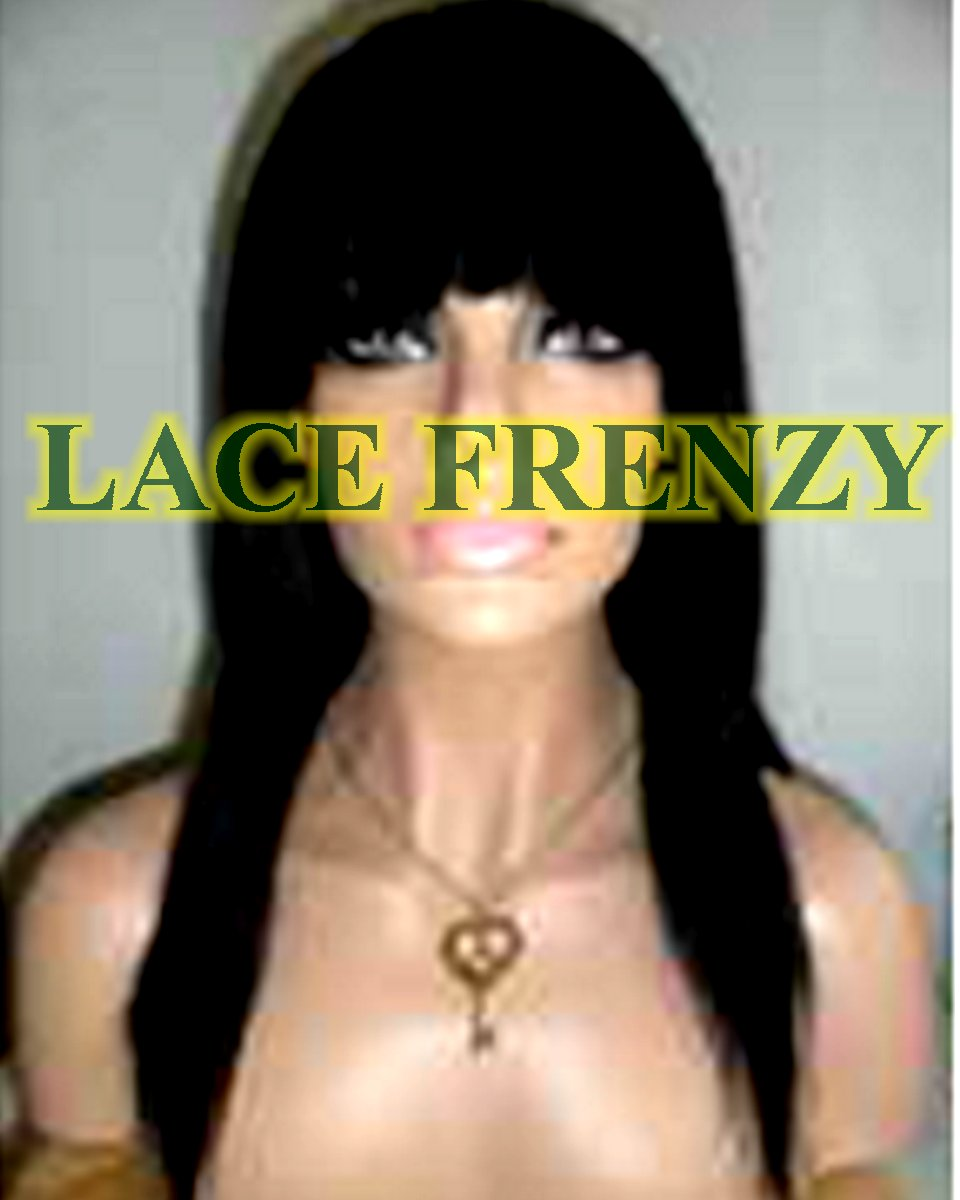 Hayden - 14 inches - Indian Remy - Yaki Straight w/ Bang Lace Front Wig