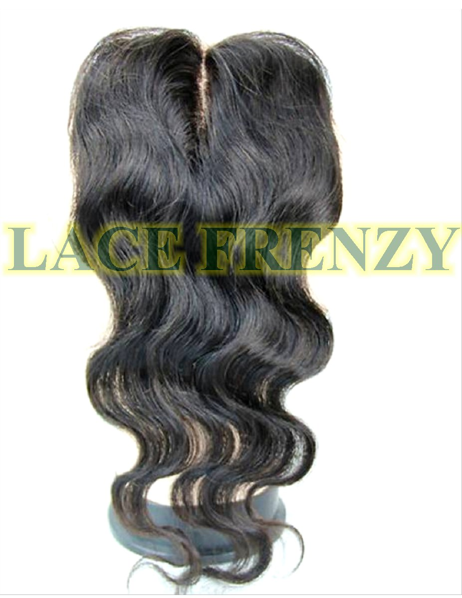 3.5 X 4 Inches - Body Wave - Silk Base - Top Closure