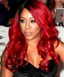 K. Michelle - Red - Body Curls - Custom Celebrity Lace Wig