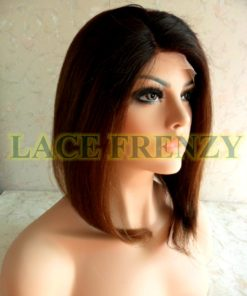 Adelle - 12 Inches - Soft Yaki - Indian Remy Hair- Bob Styled Lace Front Wig