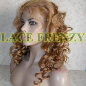 Cacey - 18 Inches - Body Curls - Indian Remy Hair- Heavy Density - Lace Front Wig