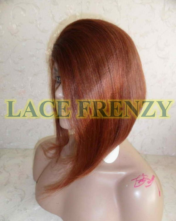 Kori - 12 Inches- Asymmetrical Cut Bob Styled - Indian Remy Hair- Lace Front Wig