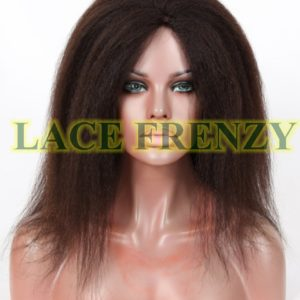 Danielle - Malaysian Virgin - 14 Inches - Italian Yaki - Glueless Silk Top Wig