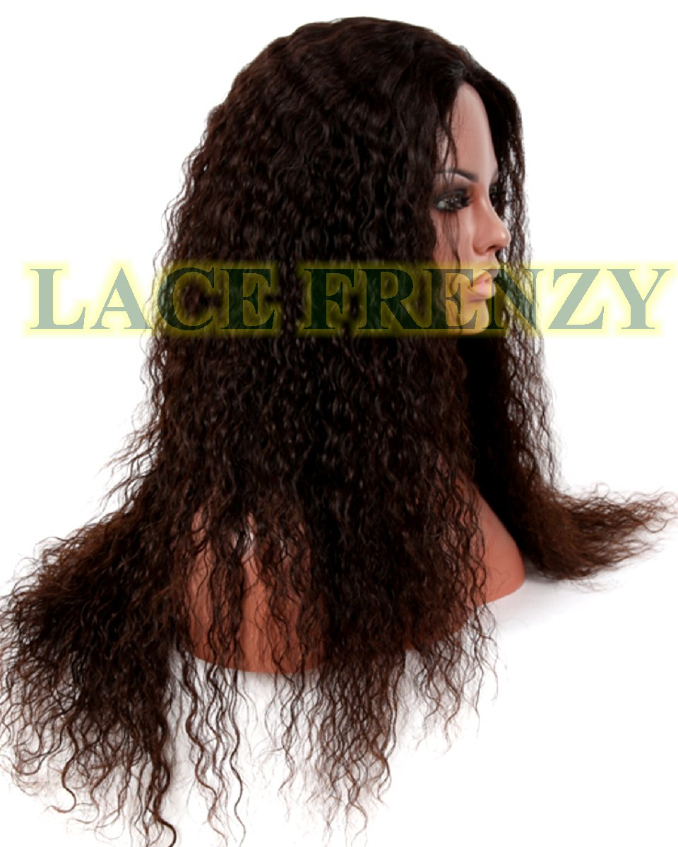 Julie-Spanish Wave- Brazilian Virgin Hair - Glueless Full Lace Wig