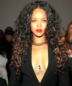 Rihanna- Curly - Custom Celebrity Lace Wig