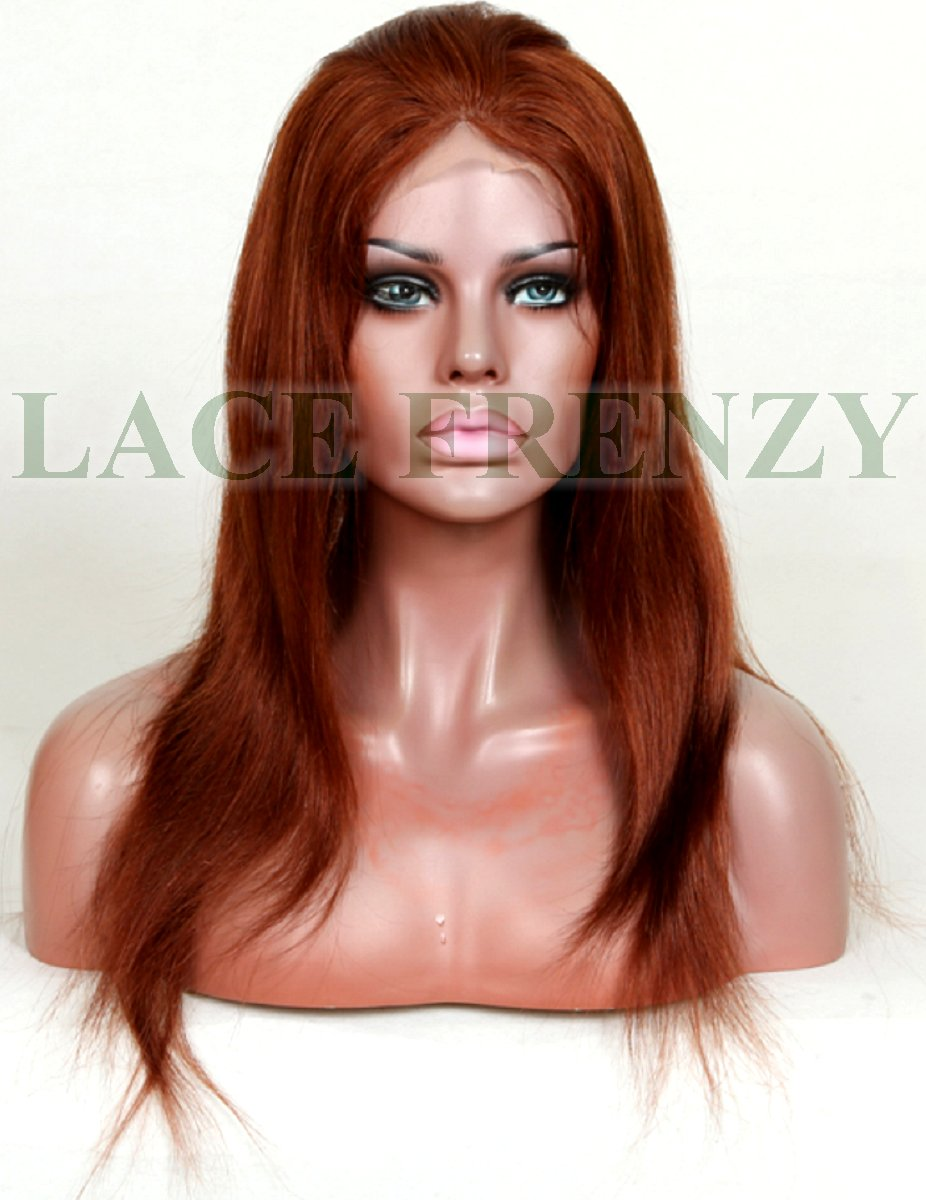 Gemma - 18 Inches - Natural Straight - Chinese Virgin Hair - Full Lace Wig