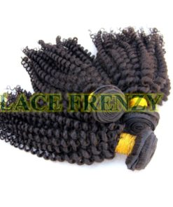 Grade 7a virgin hair kinky curl machine weft bundle kit