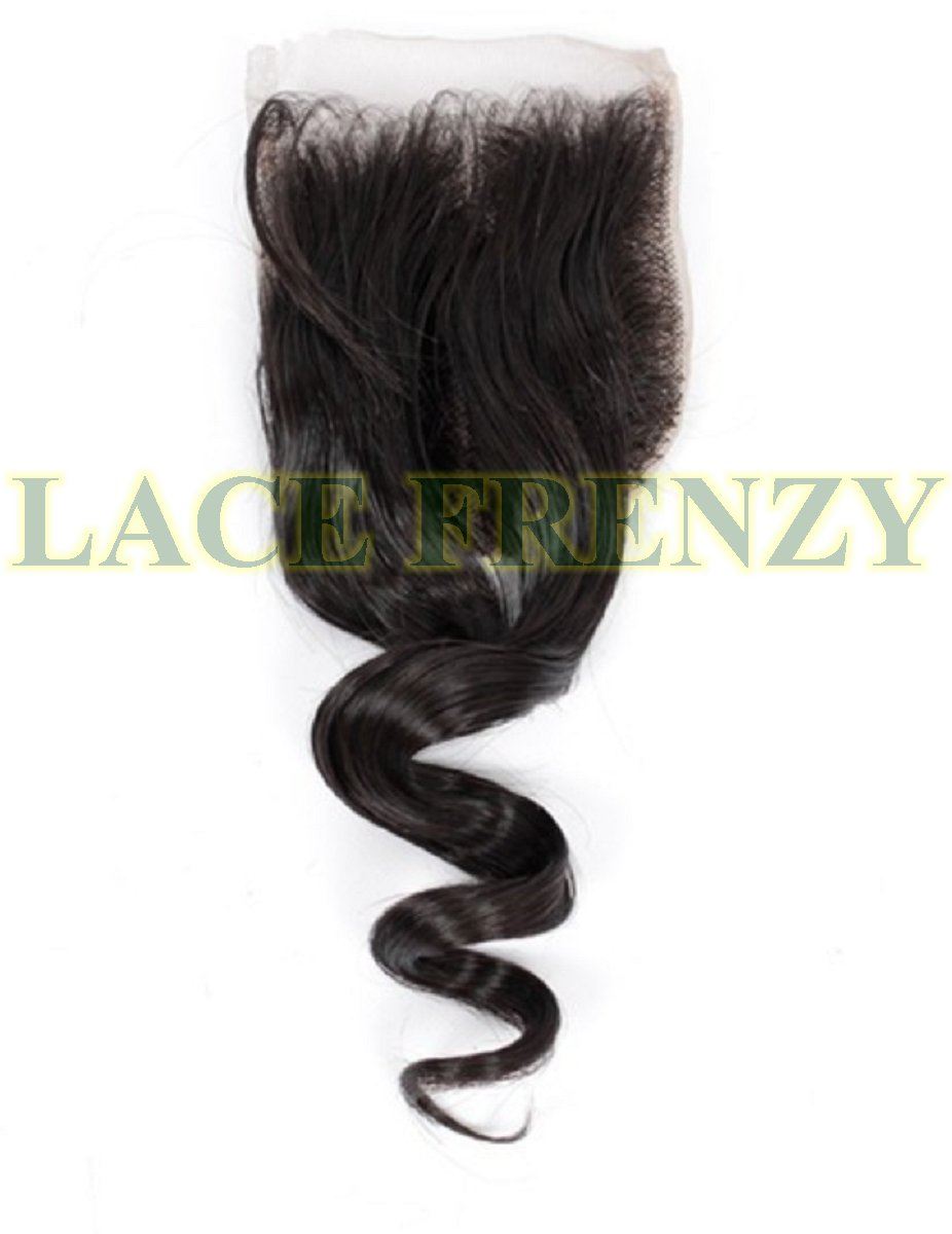 4x4 loose wave virgin human hairtop closure