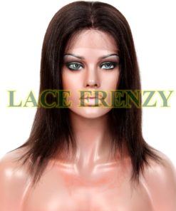 Sloan - 10 Inches - Indian Remy Hair - Yaki - Glueless Mono Cap Full Wig