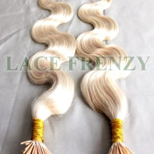 Body wave keratin itip hair extensions