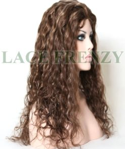 Aleah - 20 Inches - Natural Curly - Brazilian Virgin Hair - Silk Top Glue-less Full Lace Wig