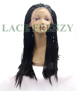 Nubian twist braided lace front wig